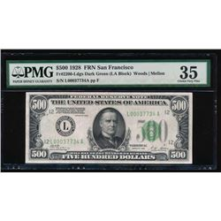 1928 $500 San Francisco Federal Reserve Note PMG 35