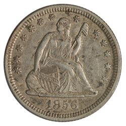 1856 Seated Liberty Quarter Coin