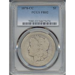 1878-CC $1 Morgan Silver Dollar Coin PCGS FR02