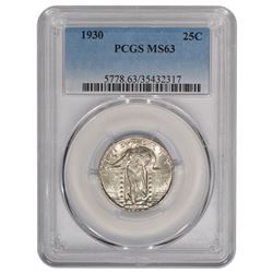 1930 Standing Liberty Quarter Coin PCGS MS63