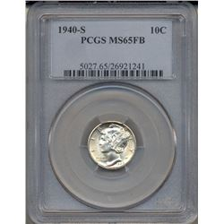 1940-S Mercury Dime Coin PCGS MS65FB