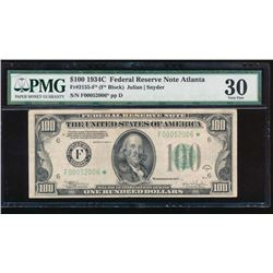 1934C $100 Atlanta Federal Reserve Star Note PMG 30