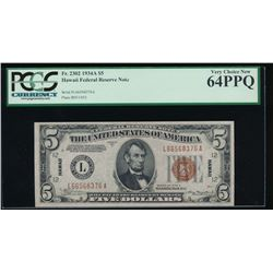 1934A $5 Hawaii Federal Reserve Note PCGS 64PPQ