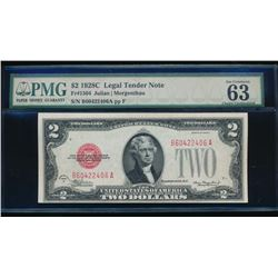 1928C $2 Legal Tender Note PMG 63