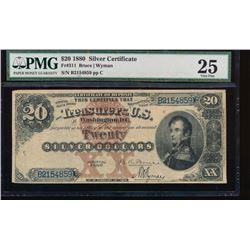 1886 $20 Silver Certificate PMG 25 Very Fine
