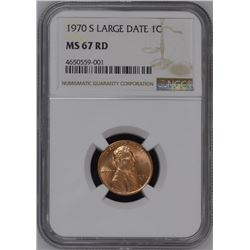 1970-S Large Date Cent NGC MS67RD