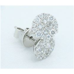 18KT White Gold 0.375ctw Diamond Earrings