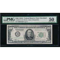 1934A $500 Cleveland Federal Reserve Note PMG 50