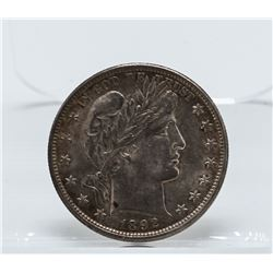 1892 Barber Half Dollar Coin