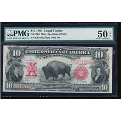 1901 $10 Bison Legal Tender Note PMG 50EPQ