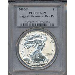 2006-P $1 American Silver Eagle Coin PCGS PR69