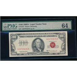 1966A $100 Legal Tender Note PMG 64