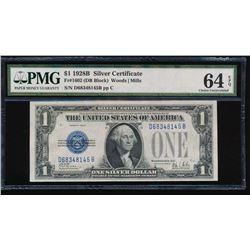 1928B $1 Silver Certificate PMG 64EPQ