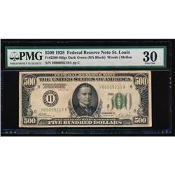 1928 $500 St Louis Federal Reserve Note PMG 30