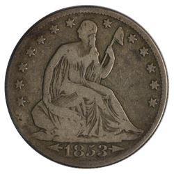 1853-O Seated Liberty Arrows and Rays Half Dollar Coin