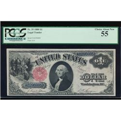 1880 $1 Legal Tender Note PCGS 55
