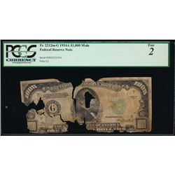 1934A $1000 Chicago Federal Reserve Note PCGS 2