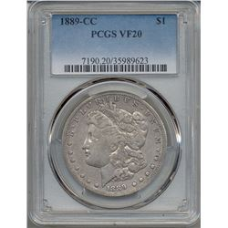 1889-CC $1 Morgan Silver Dollar Coin PCGS VF20
