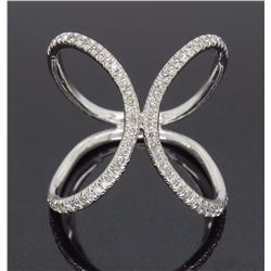 18KT White Gold 0.65ctw Diamond Ring