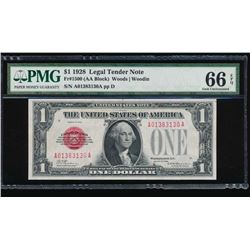 1928 $1 Legal Tender Note PMG 66EPQ