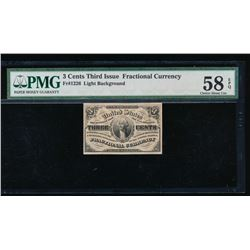 3 Cent Fractional Note PMG 58EPQ