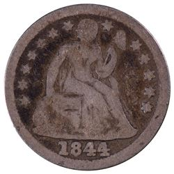 1844 Seated Liberty Dime Coin