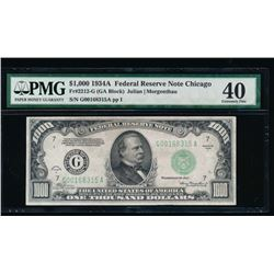 1934A $1000 Chicago Federal Reserve Note PMG 40