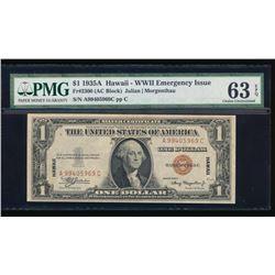 1935A $1 Hawaii Silver Certificate PMG 63EPQ