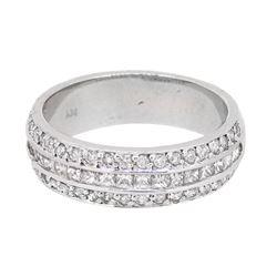 14KT White Gold 0.85ctw Diamond Ring
