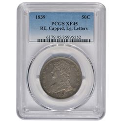 1839 Capped Bust Half Dollar Coin PCGS XF45