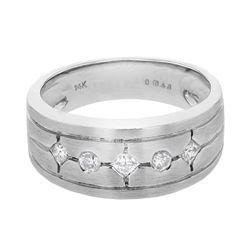 14KT White Gold 0.31ctw Diamond Ring