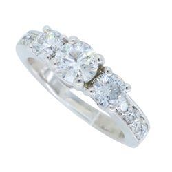 14KT White Gold 1.28ctw Diamond Ring