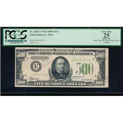 1934 $500 Richmond Federal Reserve Note PCGS 25