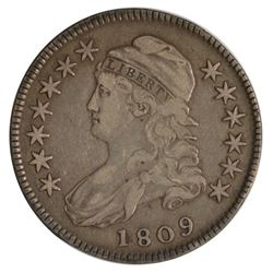 1809 Capped Bust Half Dollar Coin