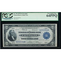 1918 $2 Cleveland Federal Reserve Bank Note PCGS 64PPQ