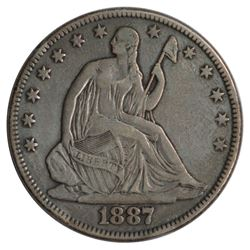 1887 Seated Liberty Half Dollar Coin