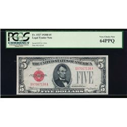 1928B $5 Legal Tender Note PCGS 64PPQ