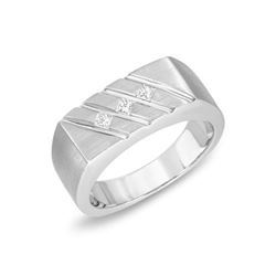 14KT White Gold 0.18ctw Diamond Ring