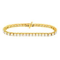 18KT Yellow Gold 10.00ctw Diamond Tennis Bracelet