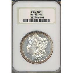 1885 $1 Morgan Silver Dollar Coin NGC MS65DPL