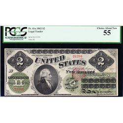 1862 $2 Legal Tender Note PCGS 55