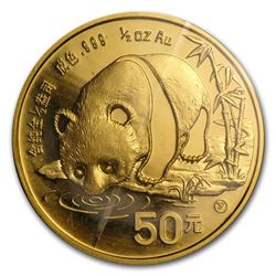 1987 50 Yuan 1/2 oz China Panda Gold Coin