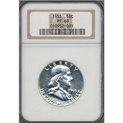1955 Franklin Half Dollar Coin NGC PF68