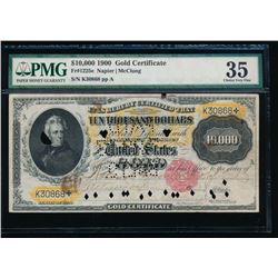 1900 $10,000 Gold Certificate PMG 35