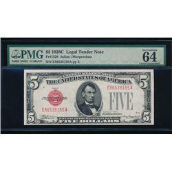 1928C $5 Legal Tender PMG 64