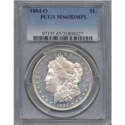 1884-O $1 Morgan Silver Dollar Coin PCGS MS65DMPL