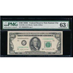 1950C $100 Kansas City Federal Reserve Note PMG 63EPQ