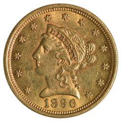 1896 $2.5 Quarter Eagle Liberty Head Gold Coin
