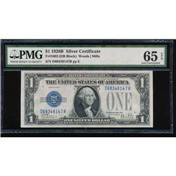 1928B $1 Silver Certificate PMG 65EPQ