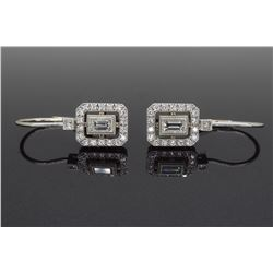 18KT White Gold 0.50ctw Diamond Earrings